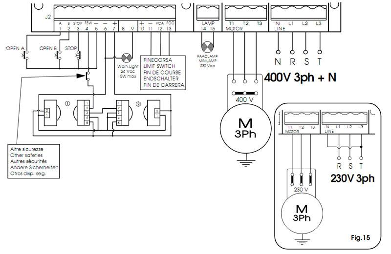 Схема подключения электрическую вороту